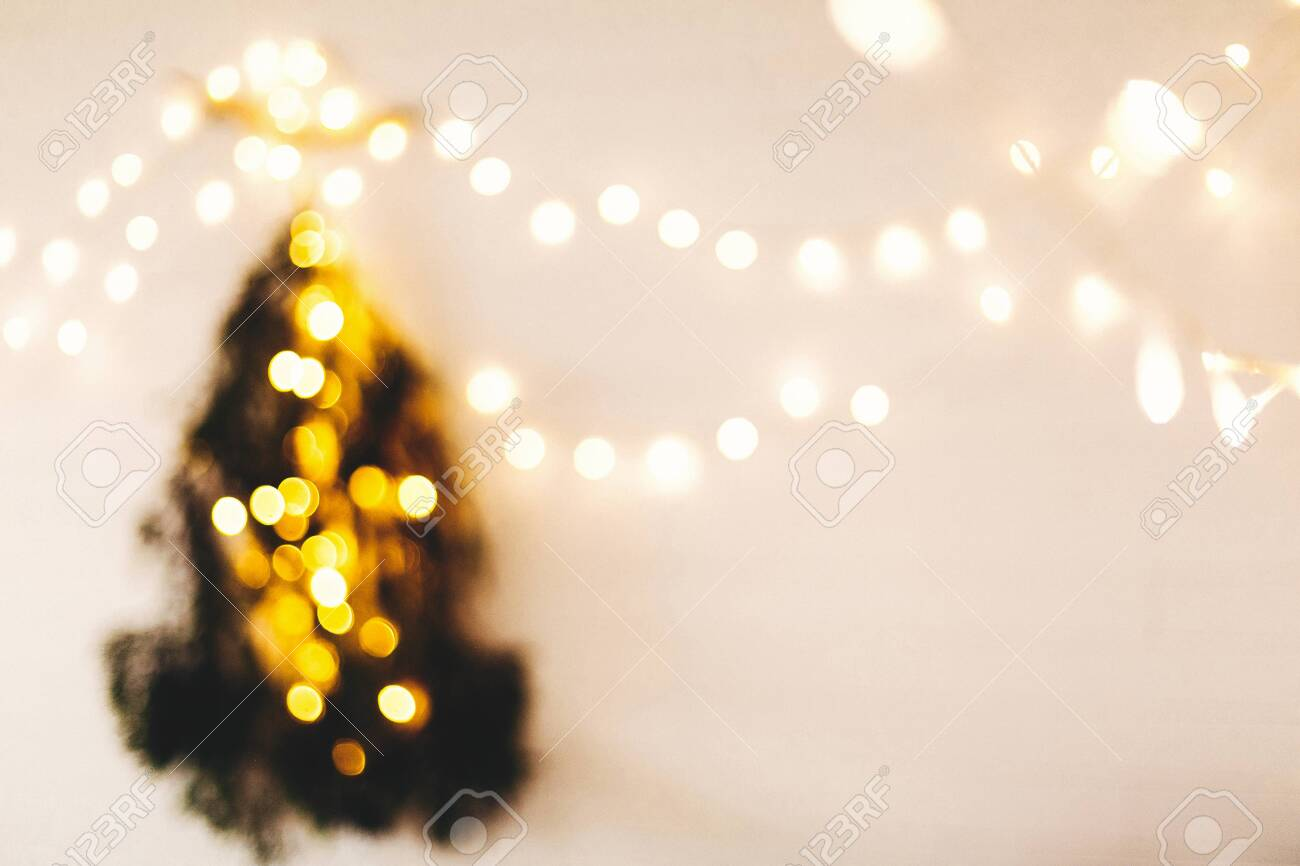Abstract Christmas Tree Blurred Image Of Christmas Tree Made Stock Photo Picture And Royalty Free Image Image 130624352
