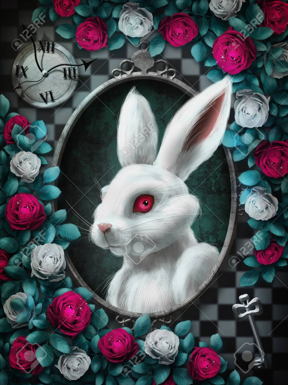 Alice In Wonderland White Rabbit From Alice In Wonderland Portrait