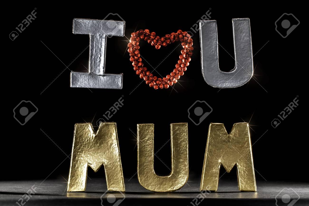 Immagini Stock Ti Voglio Bene Mamma Lettere In Argento E Oro E