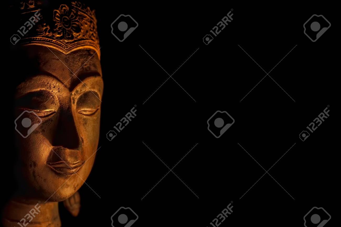 Zen Buddhism  Spiritual enlightenment of serene Buddha head in