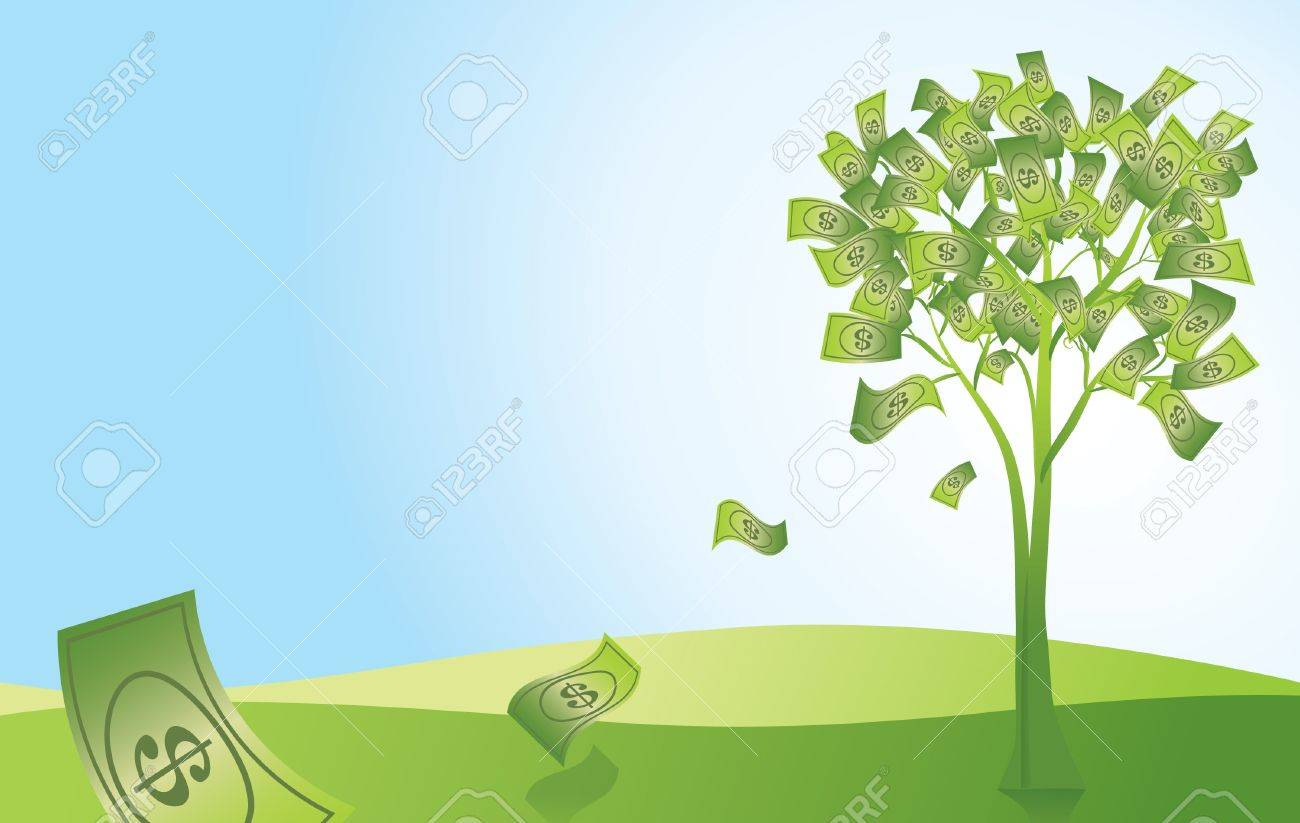 money doesn t grow on trees royalty free cliparts vectors and