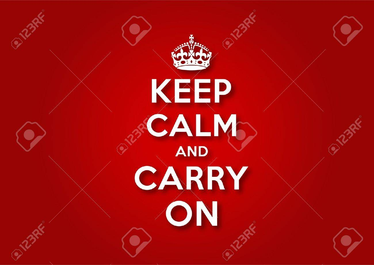Keep Calm and Carry On Stock Vector - 12907379