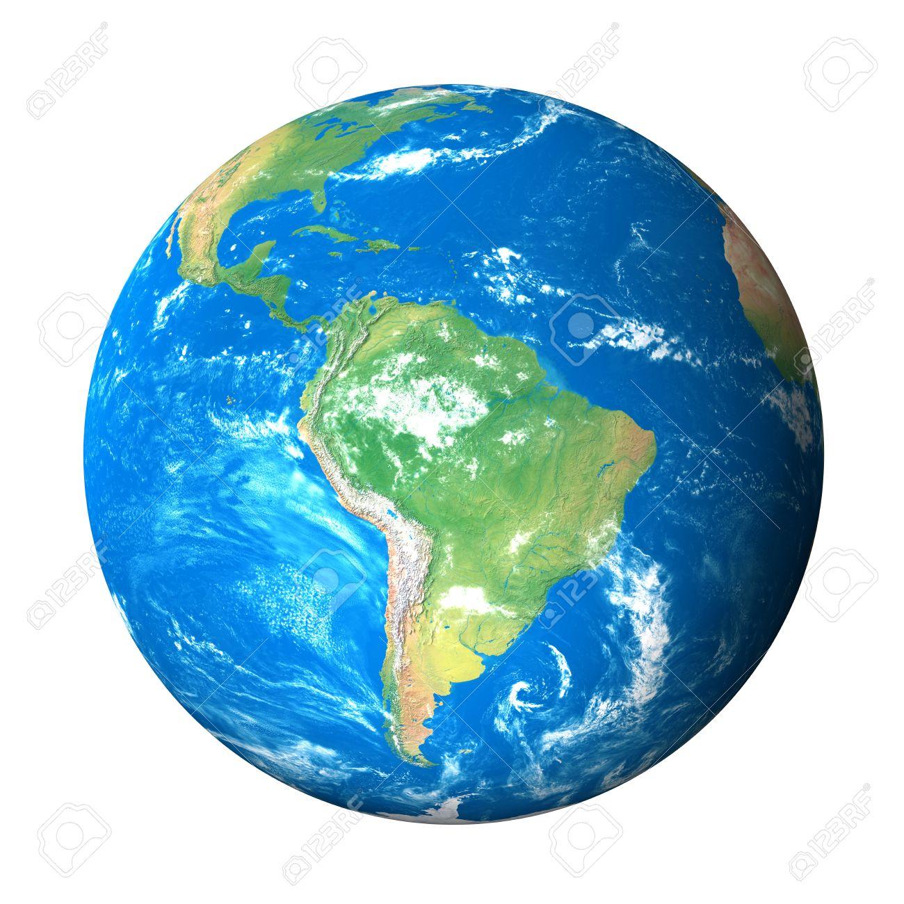 Tierra Desde El Espacio Modelo: América Del Sur Vista Fotos ...