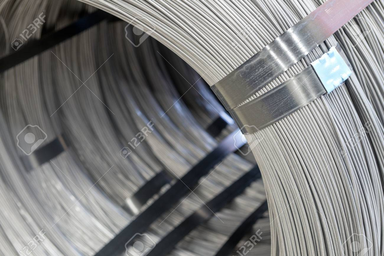 Steel Wire Rod, Steel Coils Stock Photo, Picture And Royalty Free ...