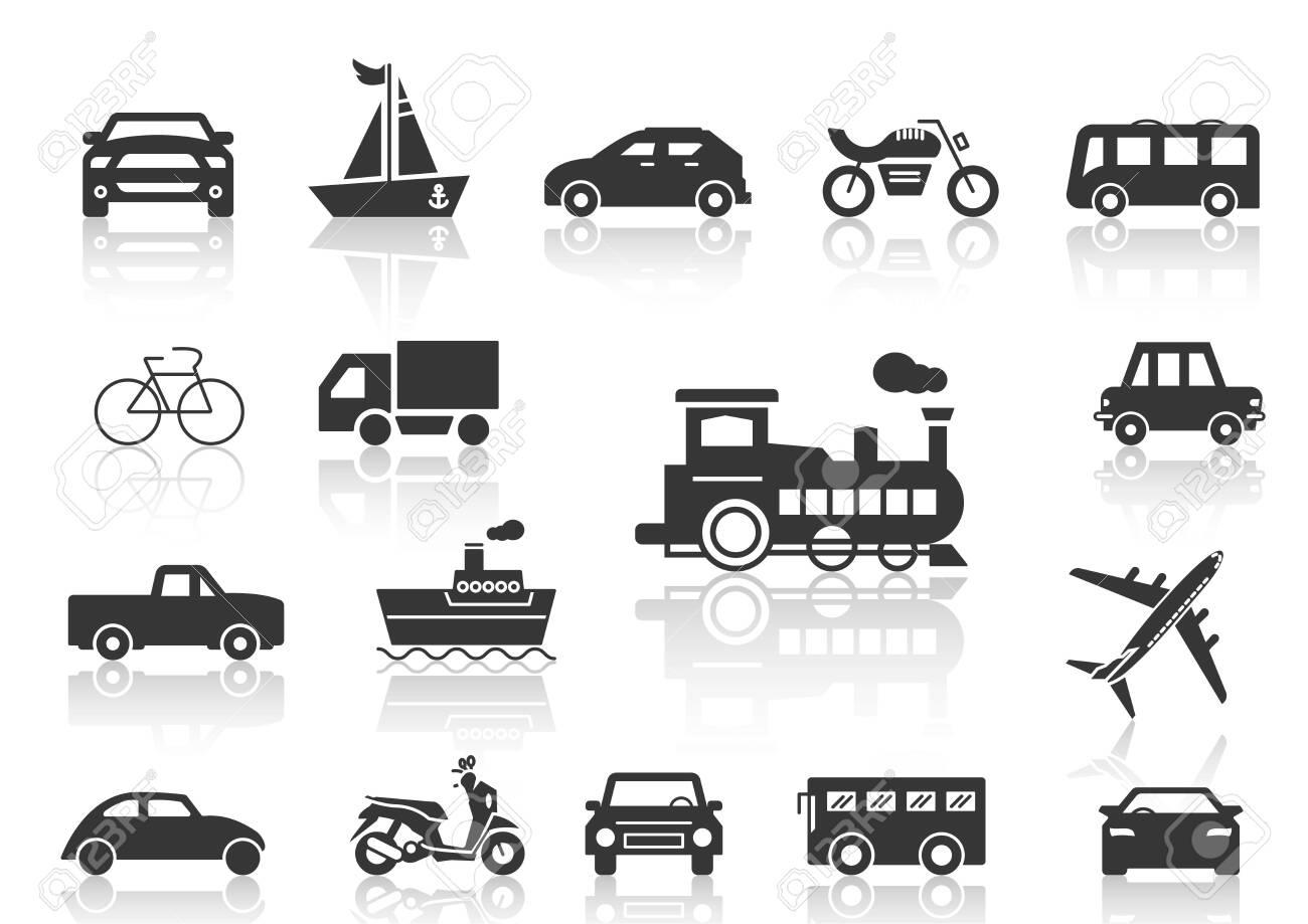 solid icons set transportation - 148656065