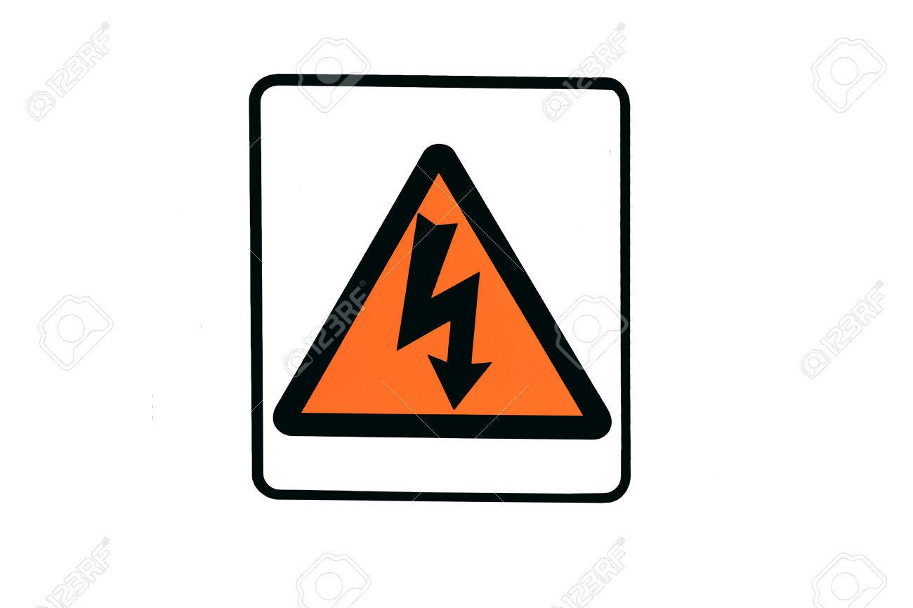 Electrical Warning Symbol Stock Photo Picture And Royalty Free