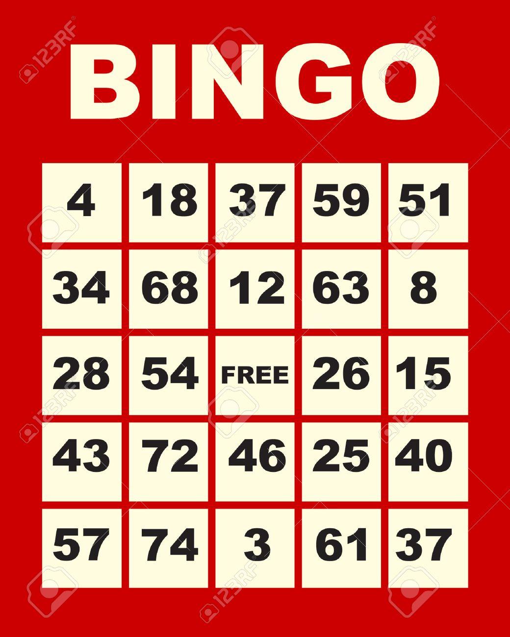 art illustration of one red bingo card Stock Vector - 8101243