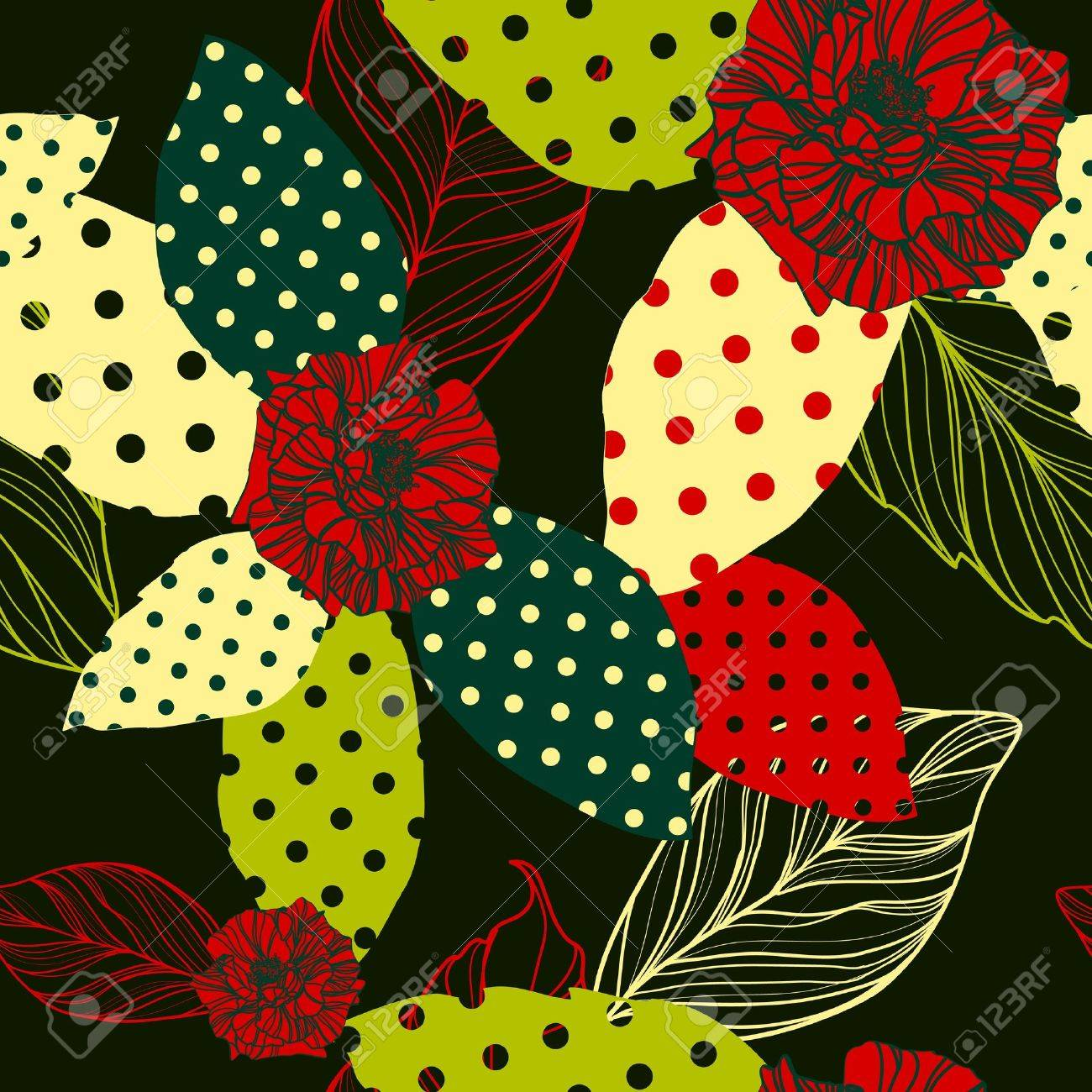 beautiful vector seamless pattern with roses Stock Vector - 12819967