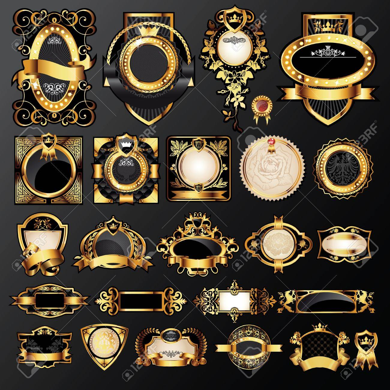 big set of luxury labels - 12820071