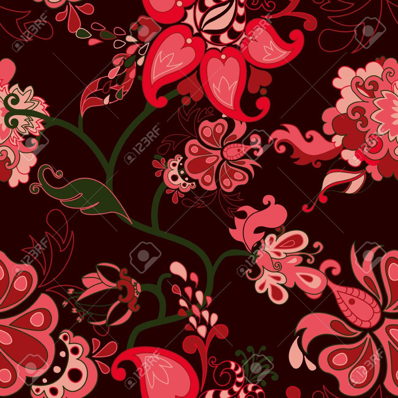 Abstract floral seamless pattern. Stock Vector - 13625627