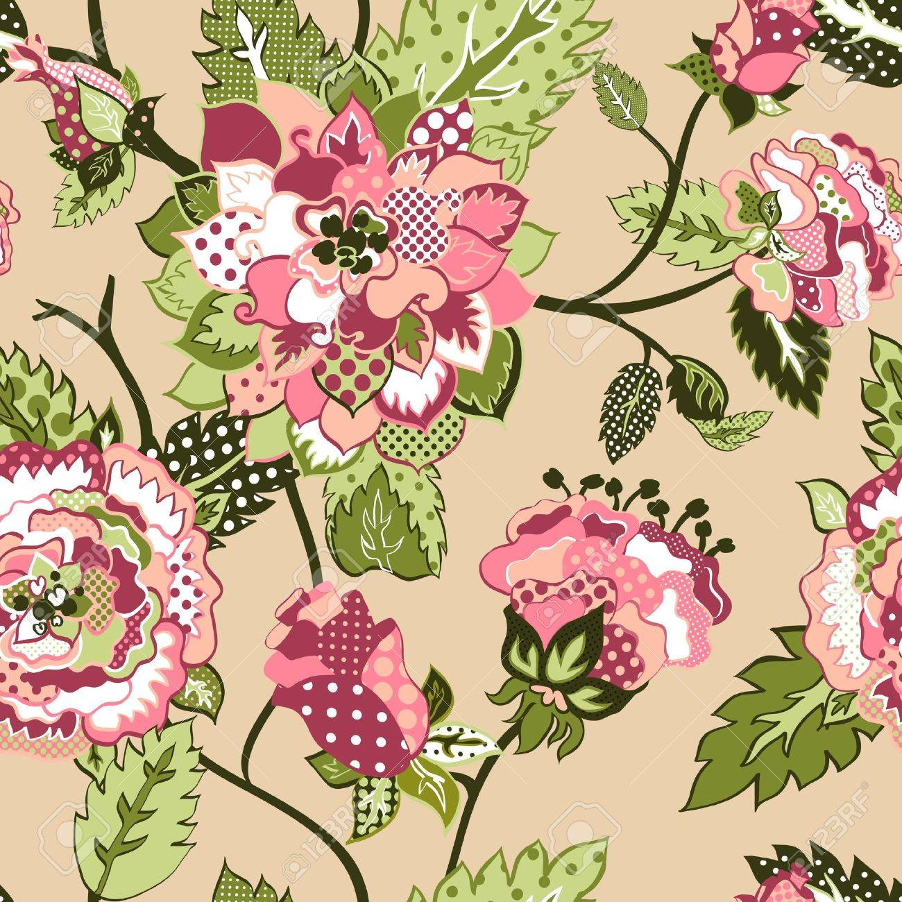 beautiful seamless background with roses Stock Vector - 13625995