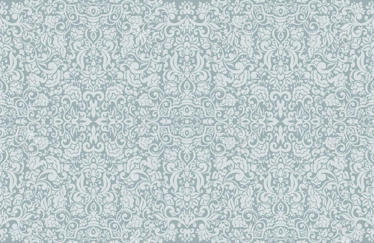 Seamless Damask wallpaper. Stock Vector - 13625614