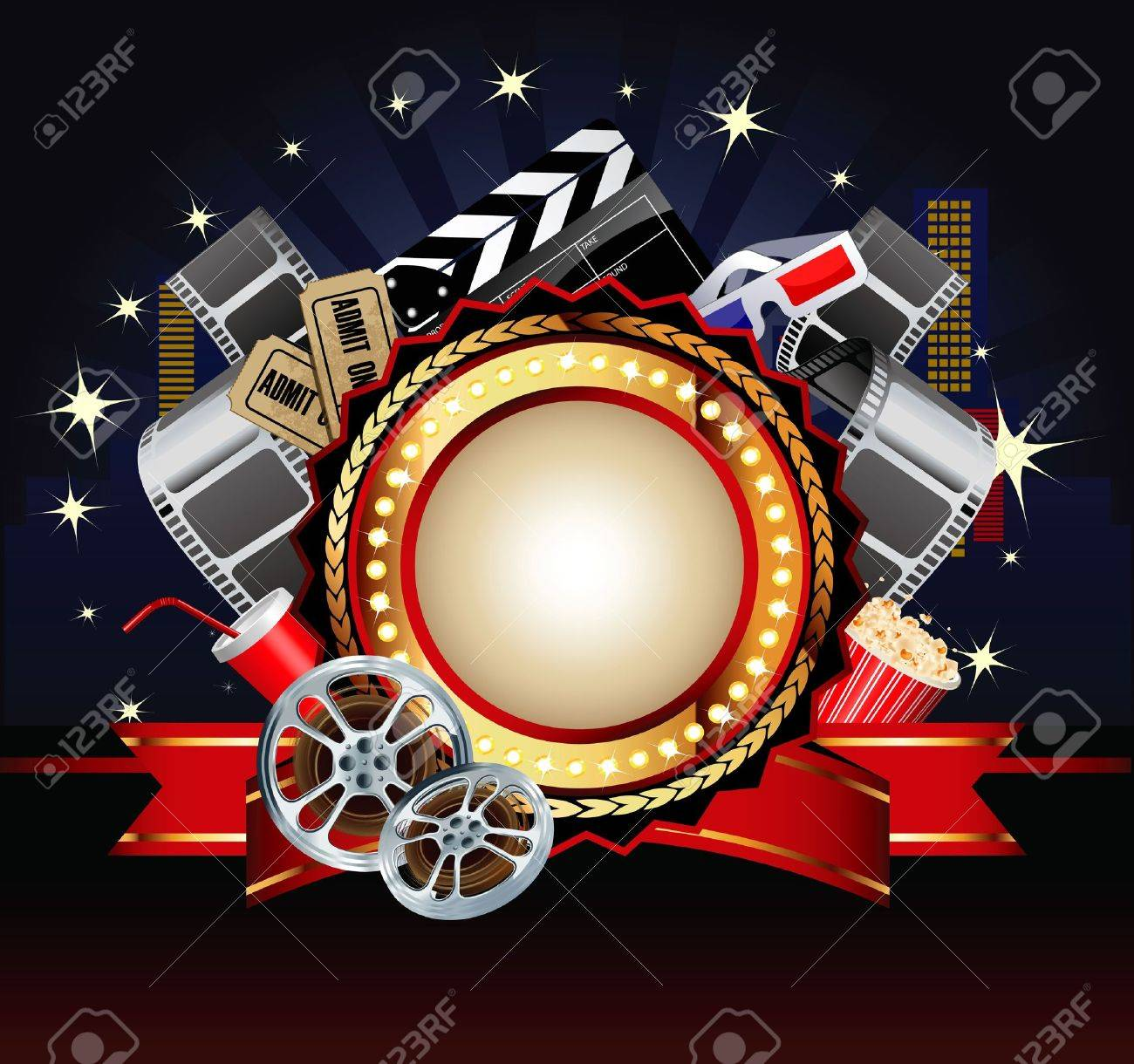 Movie or film theme composition. Stock Vector - 14567751