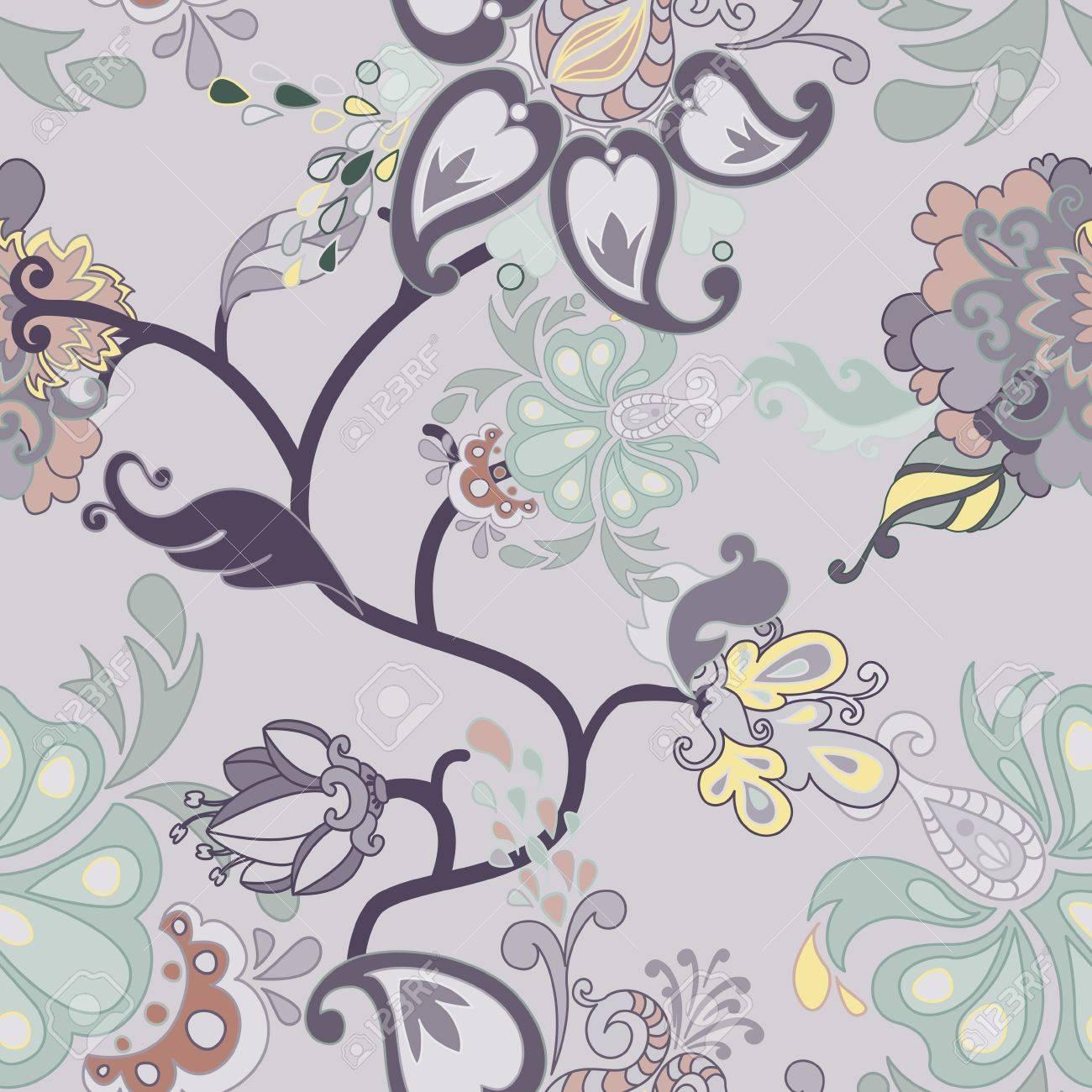 Vector retro floral seamless pattern. Stock Vector - 14567701
