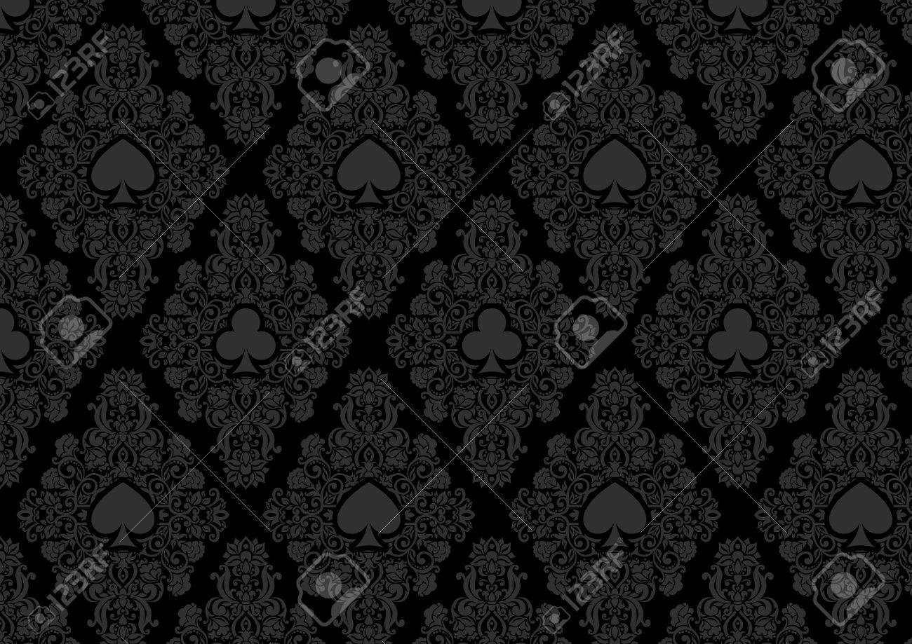 Seamless Casino Gambling Poker Background Or Dark Damask Pattern Royalty Free Cliparts Vectors And Stock Illustration Image 55221784