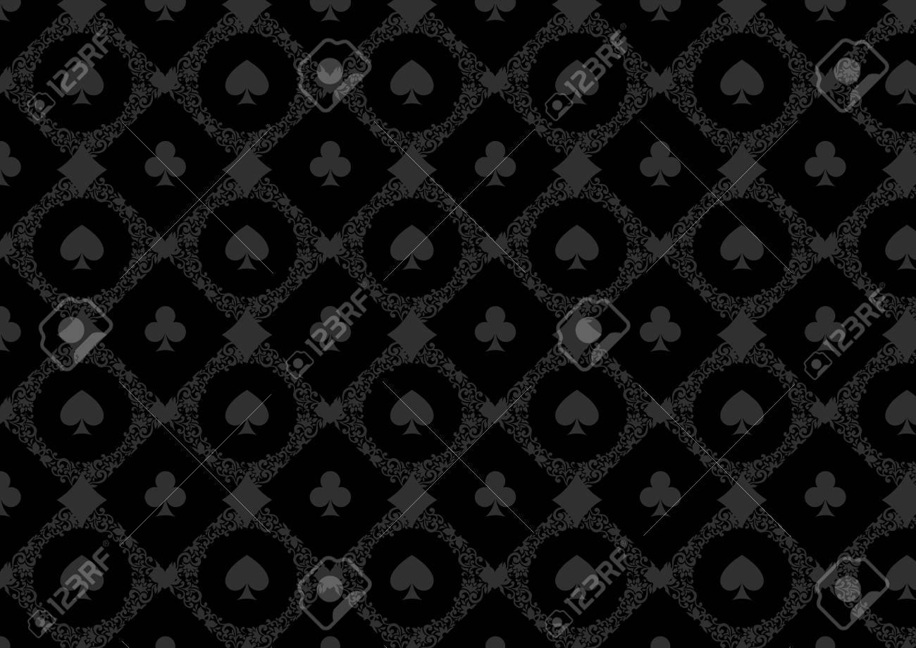 Black Casino Gambling Poker Background Or Dark Damask Pattern Royalty Free Cliparts Vectors And Stock Illustration Image 55716224