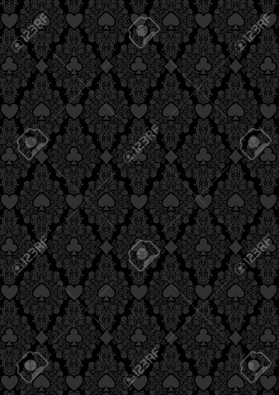 Black Seamless Casino Gambling Poker Background With Dark Grey Royalty Free Cliparts Vectors And Stock Illustration Image 55717516