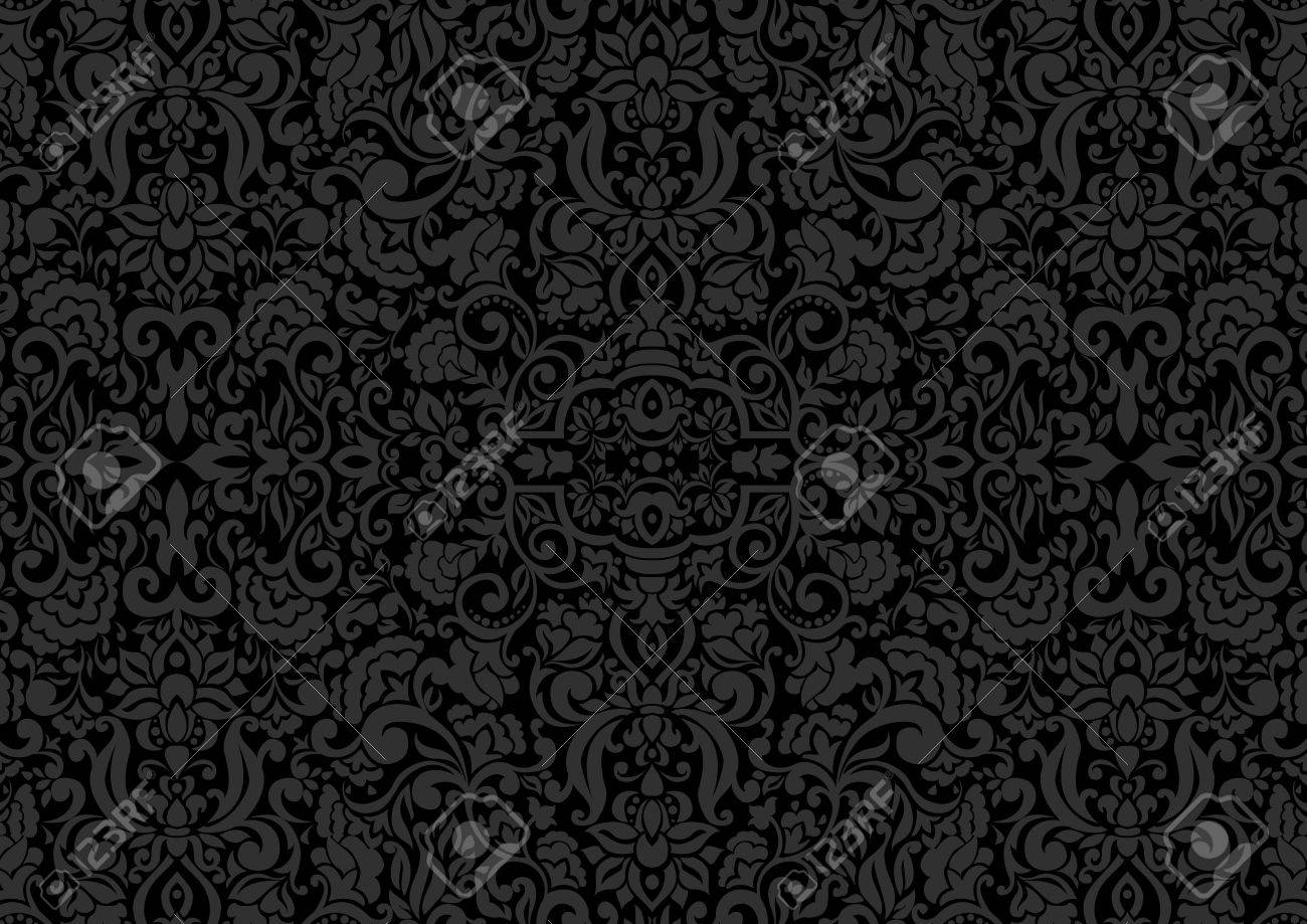 Vintage background ornate baroque pattern vector illustration stock - Vector Vintage Background Antique Ornament Baroque Old Paper Backdrop For Greeting Card Or Ornate Cover Page Floral Luxury Ornamental Pattern Template