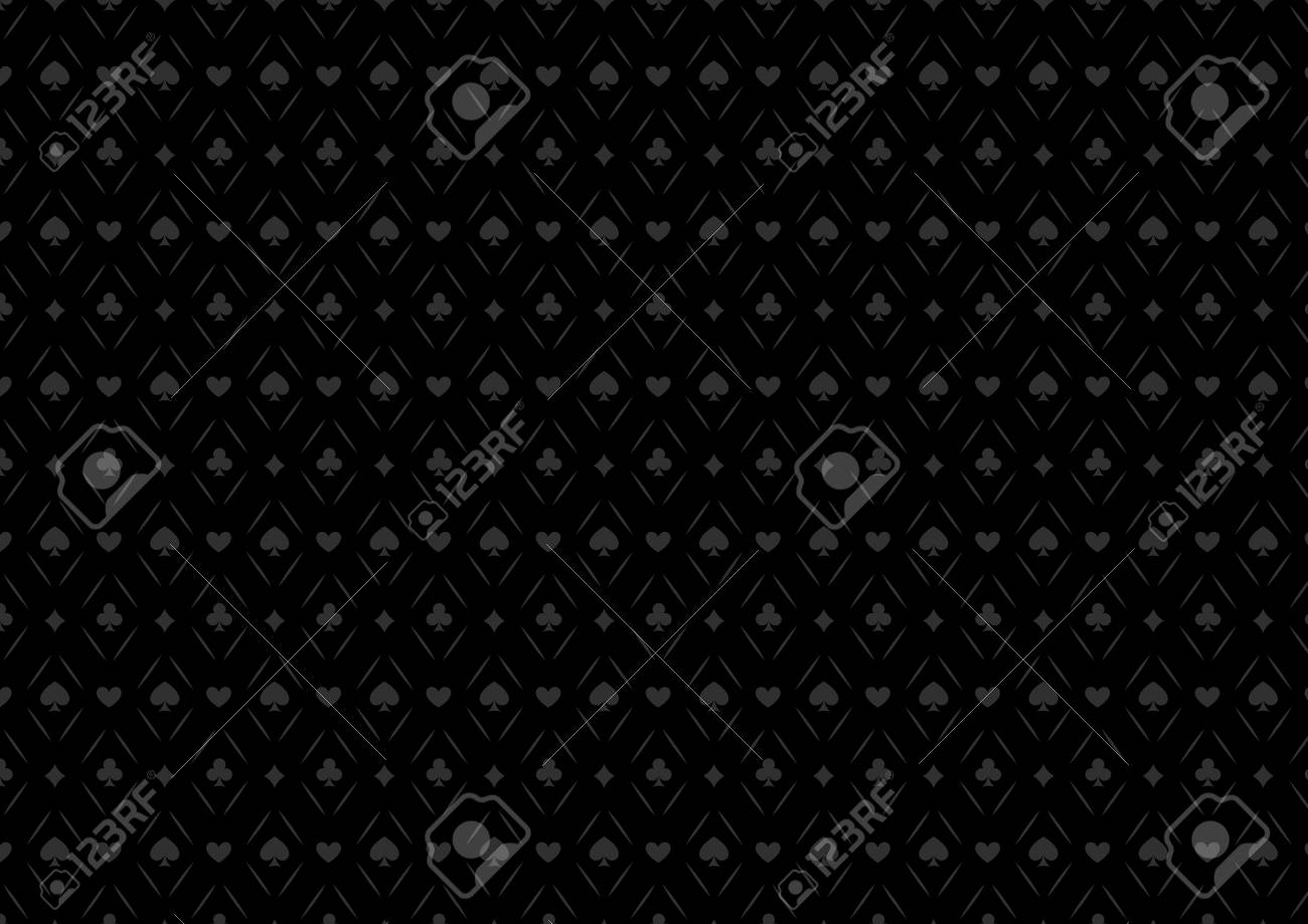 Black Seamless Casino Gambling Poker Background Or Dark Pattern Royalty Free Cliparts Vectors And Stock Illustration Image 56210127