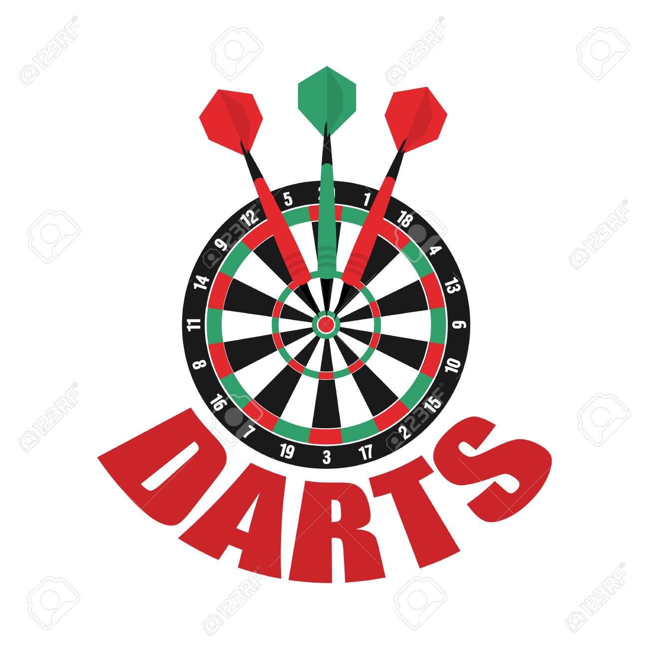 Darts Label Badge Darts Sporting Symbols Darts Dartboard