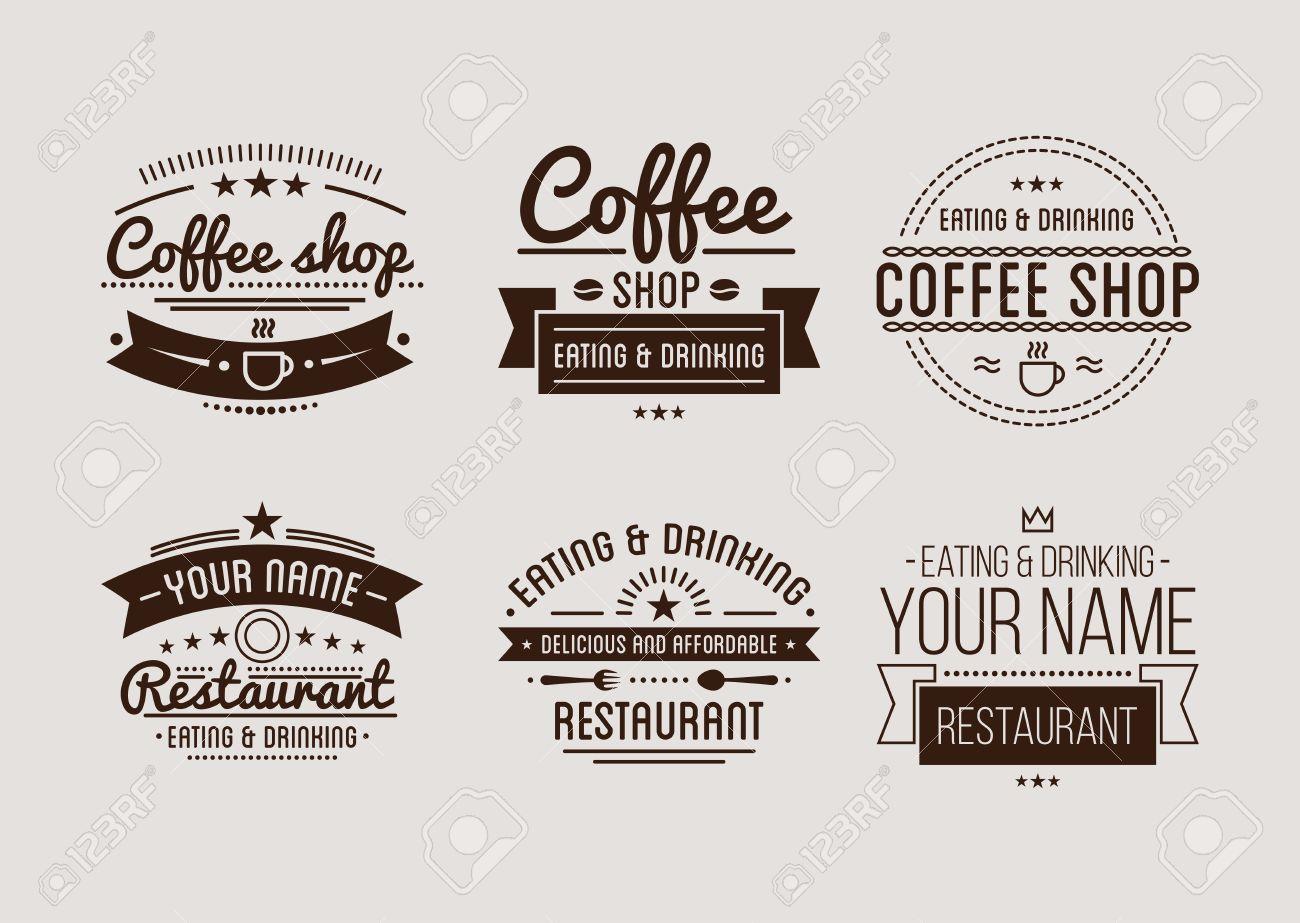 Coffee-Shop-Vorlage. Restaurant-Label. Bier-House-Label. Grafik ...