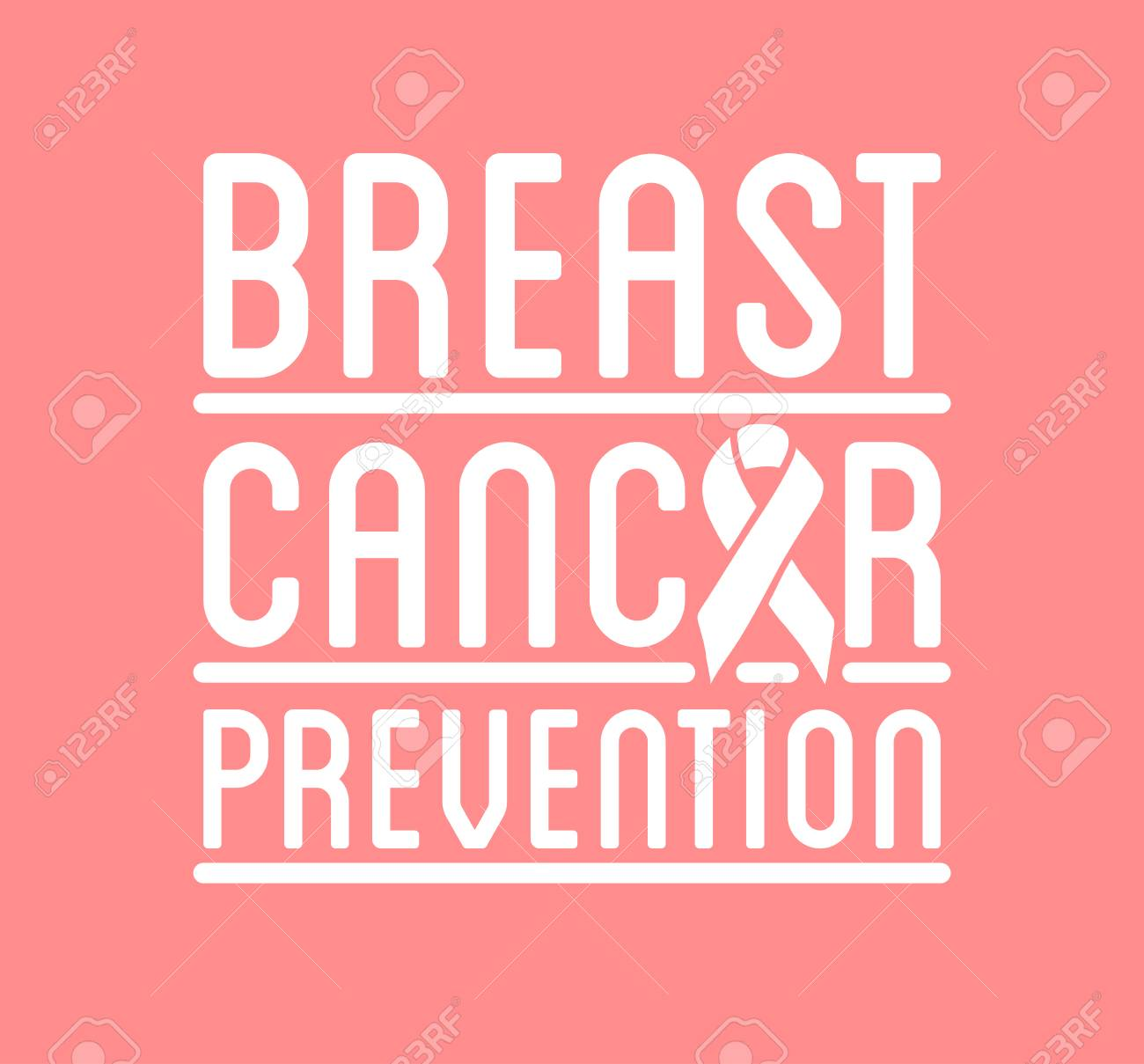 international day of breast cancer awareness vector badge flyer