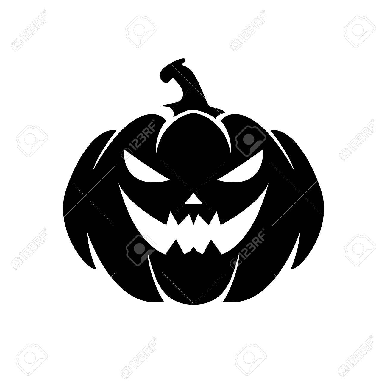 Halloween Pumpkin Vector.Halloween Pumpkin Vector Illustration Isolated On White Background