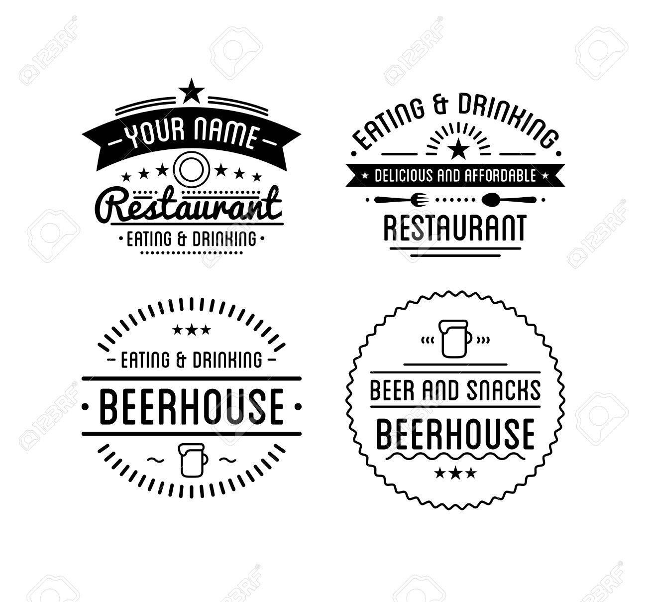 Weinlese. Coffee-Shop-Vorlage. Restaurant-Label. Bier-House-Label ...