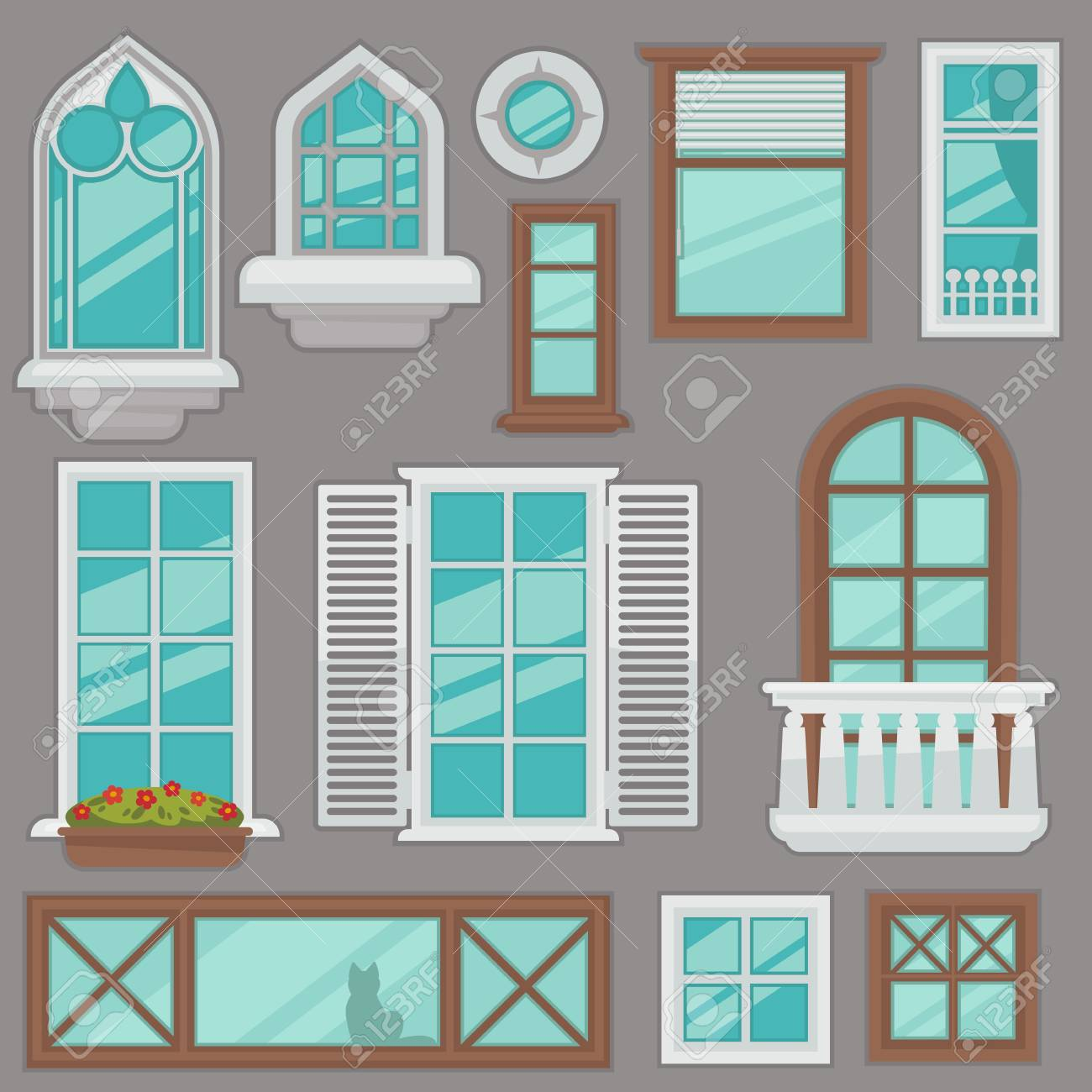 Windows Collection Of Various Types For Interior And Exterior - Windows-exterior-design