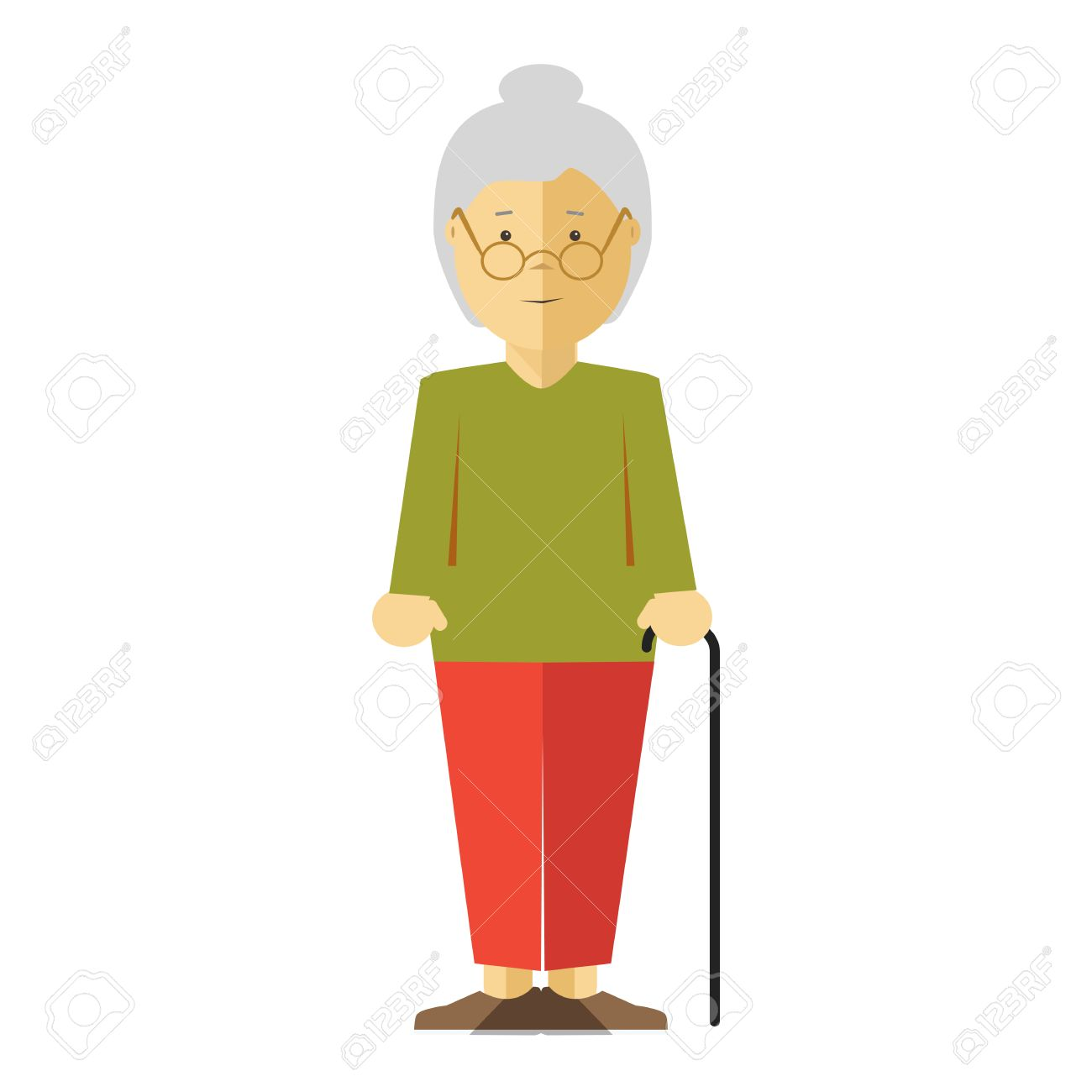 old lady or grandmother icon of elderly female person with smile rh 123rf com old lady cartoon character with tissues old lady cartoon character names