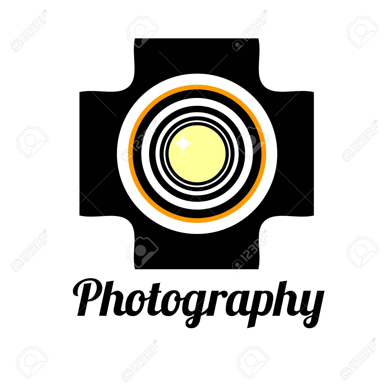 photo studio or professional photographer logo template royalty free
