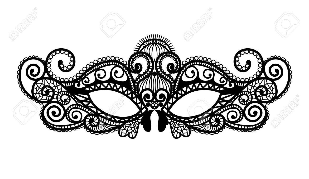 Mardi Gras Mask Of Lace Collection Set. Royalty Free Cliparts ...