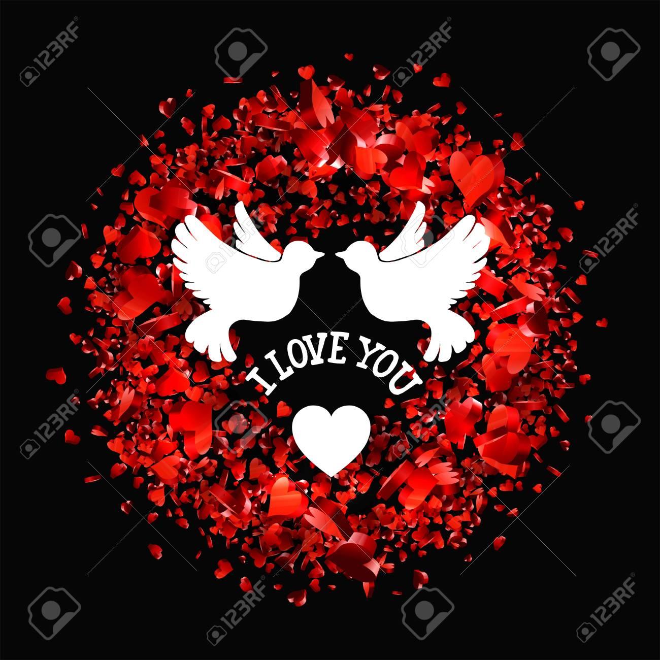 Valentines Day Party Schriftzug Grußkarte Oder Flyer Vorlage ...