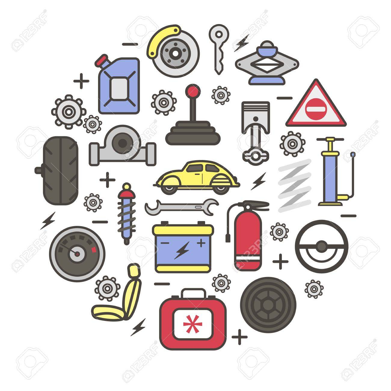 Car Spare Parts And Details Of Gear, Motor Engine, Wheel Tire ...