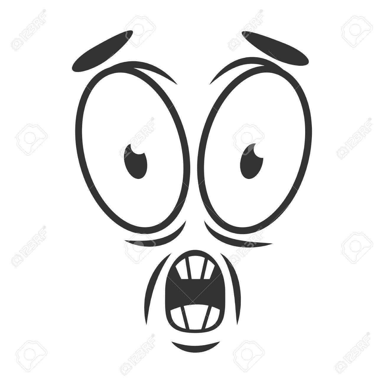 shocked emotion icon logo flat style simple horrify cartoon rh 123rf com Symbols for Apprehensive Apprehensive Person