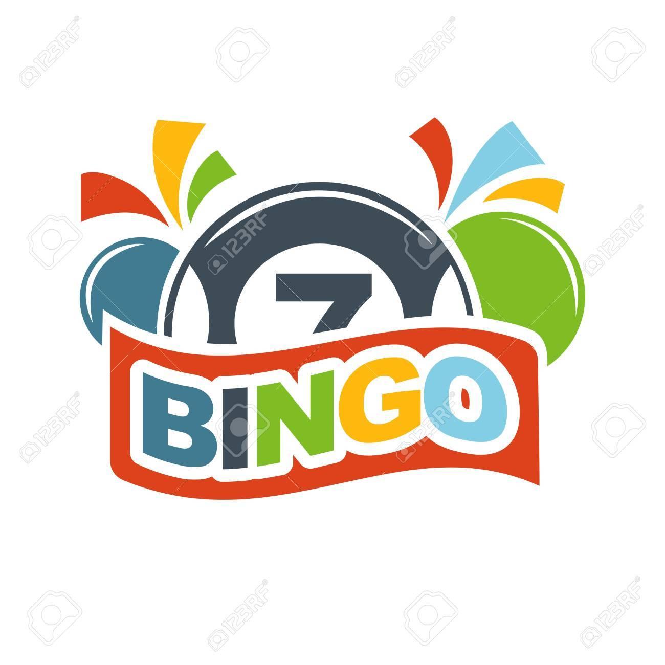 Bingo Lotería Logotipo De La Plantilla De La Lotería. Ganador ...