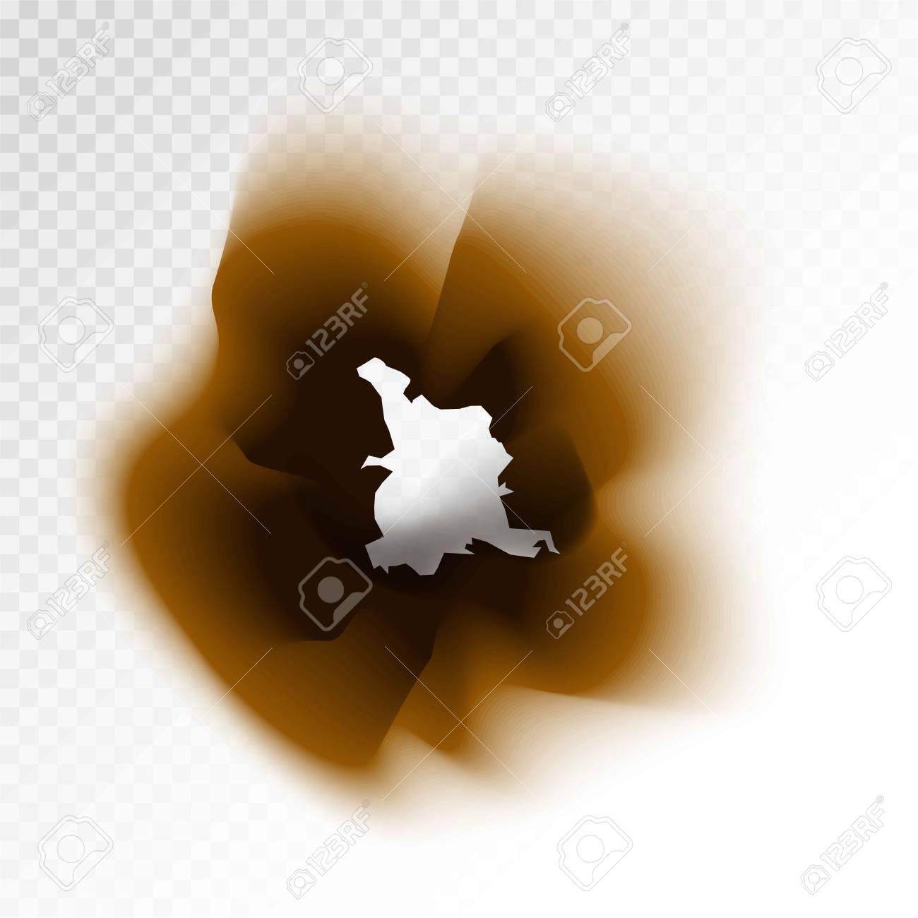 透明な背景に焦げた茶色の絶縁紙の穴のイラスト素材ベクタ Image