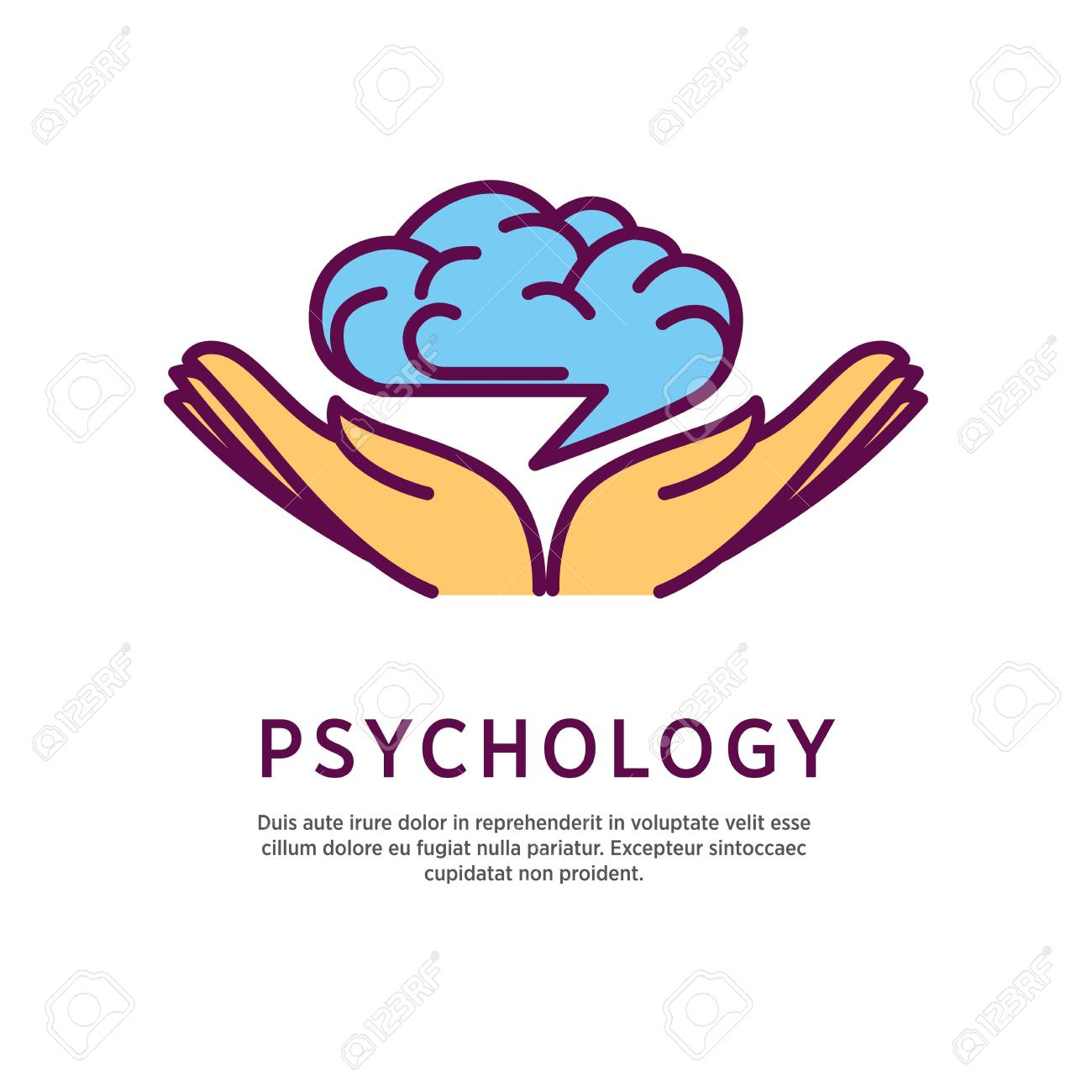 Psychology logo design with open hand palms with human brain royalty psychology logo design with open hand palms with human brain stock vector 76542052 ccuart Gallery