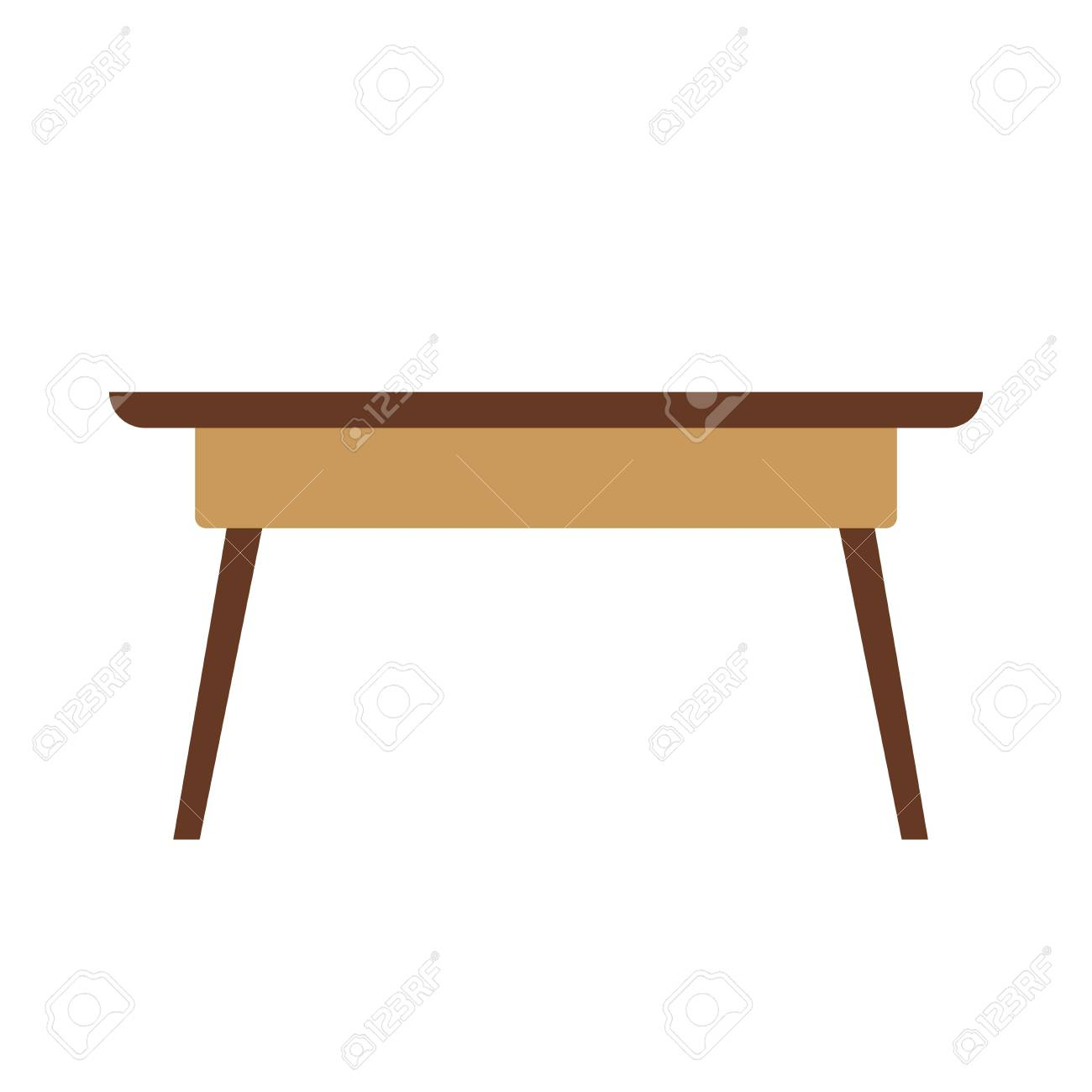 Superieur Small Wooden Table Stock Vector   76700027