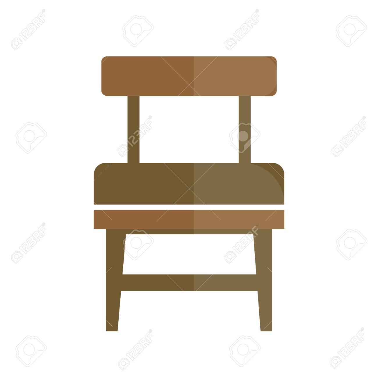 Sige Rtro Lgant Avec Icne Arrire Confortable Chaise Vintage