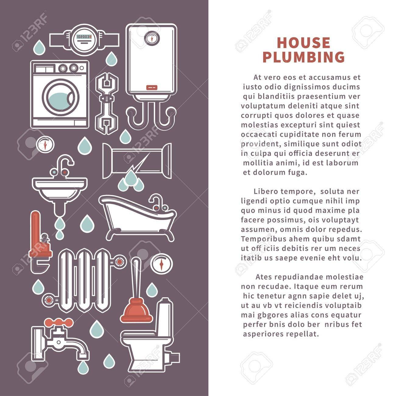 Affiche Salle De Bain ~ maison de plomberie pour la cuisine ou la salle de bains affiche