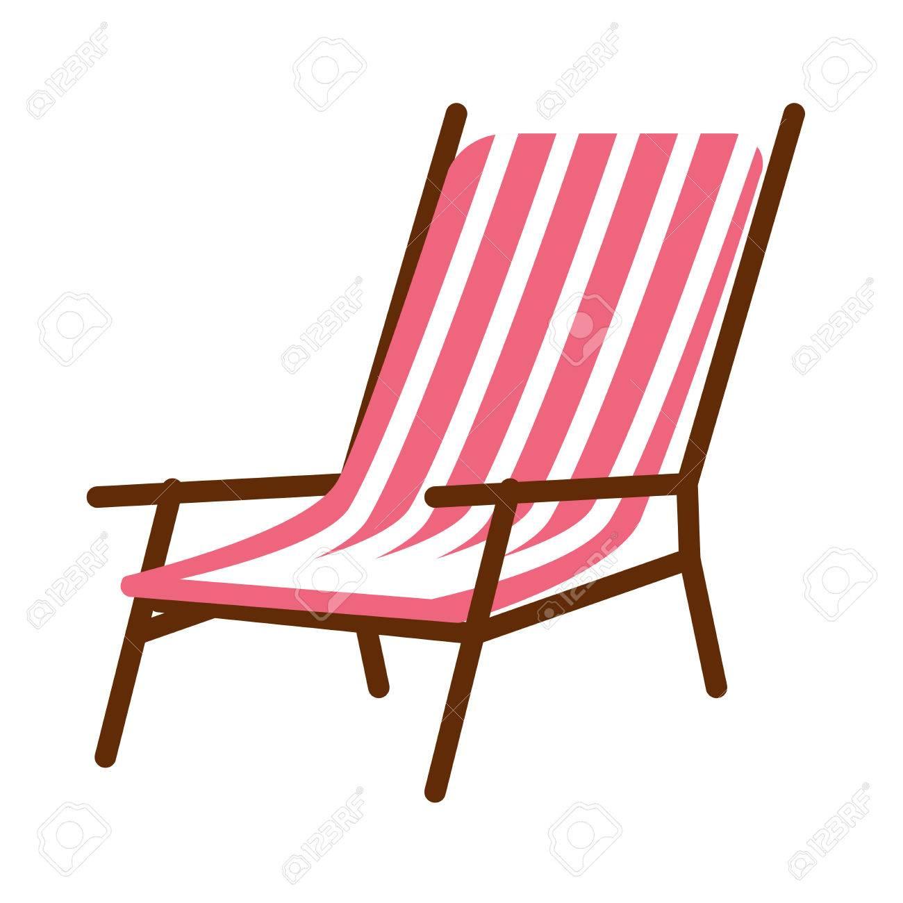 Rayée Longue Sur Chaise Vectorielle Blanc Illustration Isolée D'une Minimale dWBCxoer