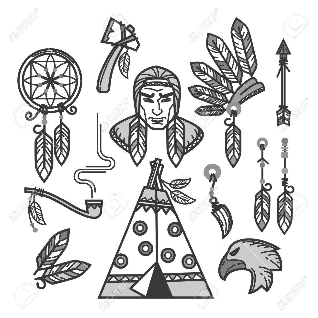 Native American Indians traditional culture or life household