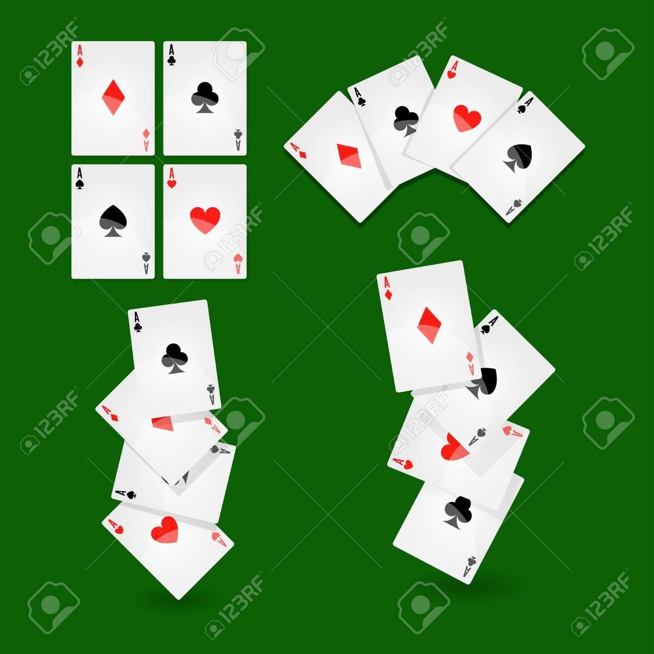 06d1c7d7b69b1 Carte da gioco poker per casinò o solitario icone vettoriali gioco Archivio  Fotografico - 82169284