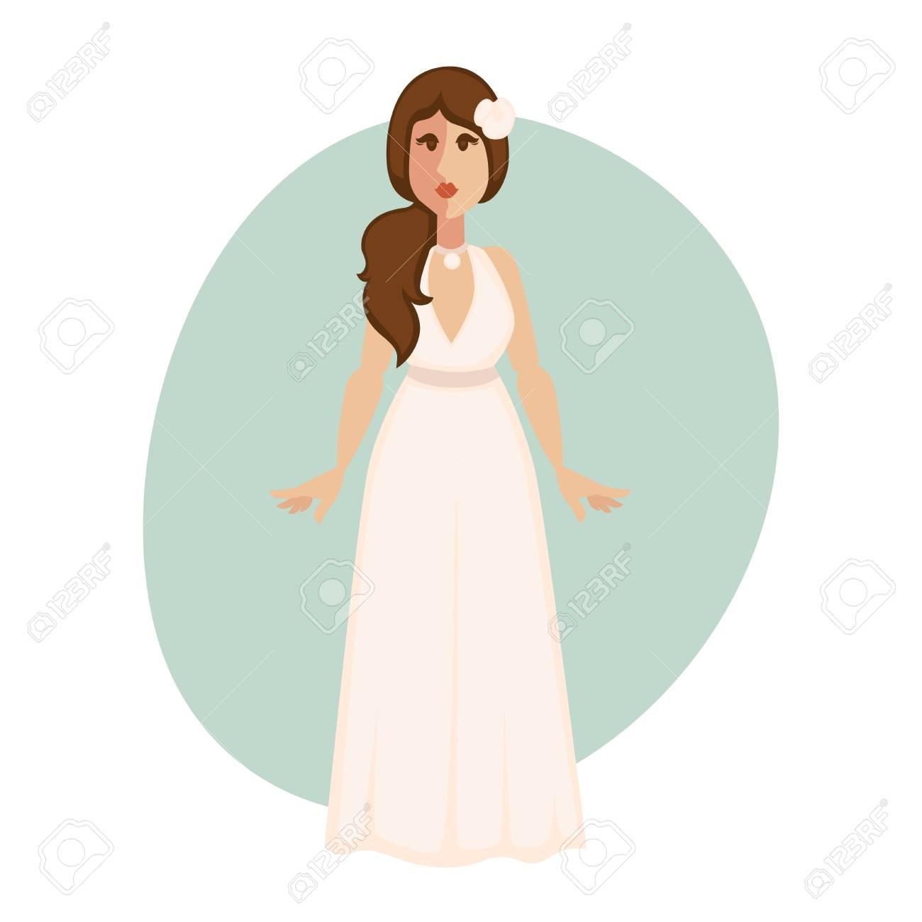 Schöne Braut Frau In Einem Brautkleid. Lizenzfrei Nutzbare ...