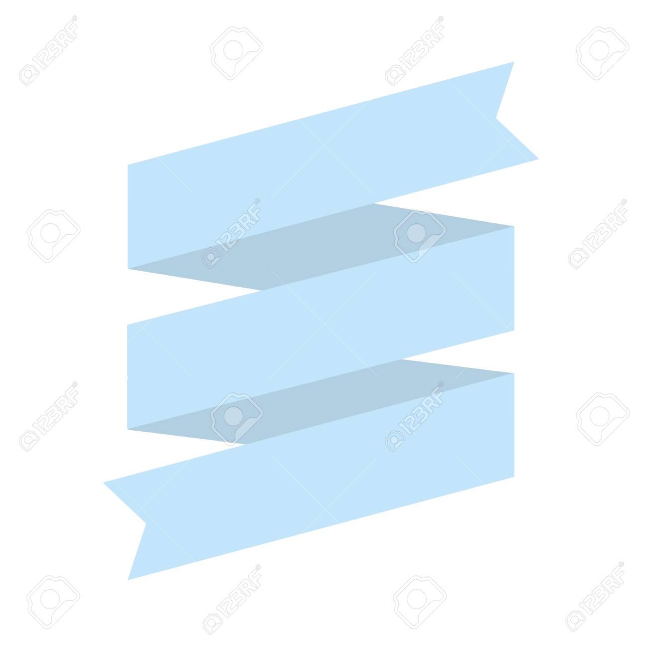 Espiral De Luz De La Cinta Azul Para La Colocación De Signo Aislados ...