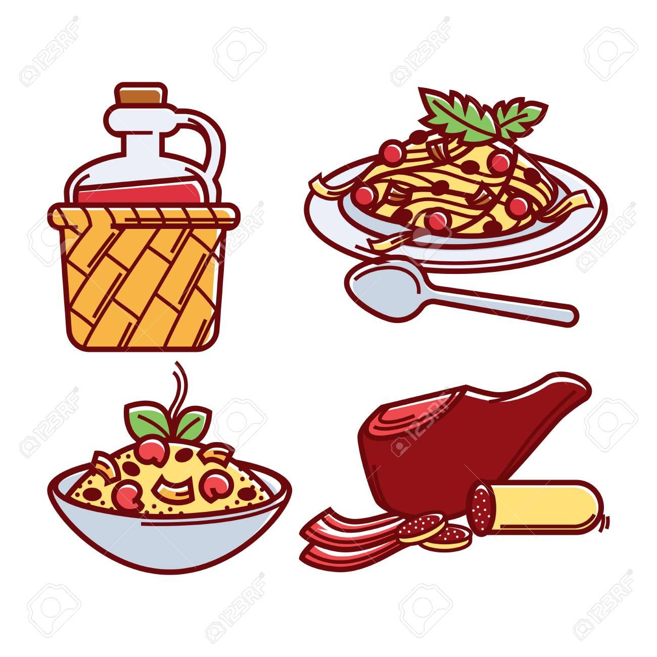 La Cuisine Italienne En Dessin
