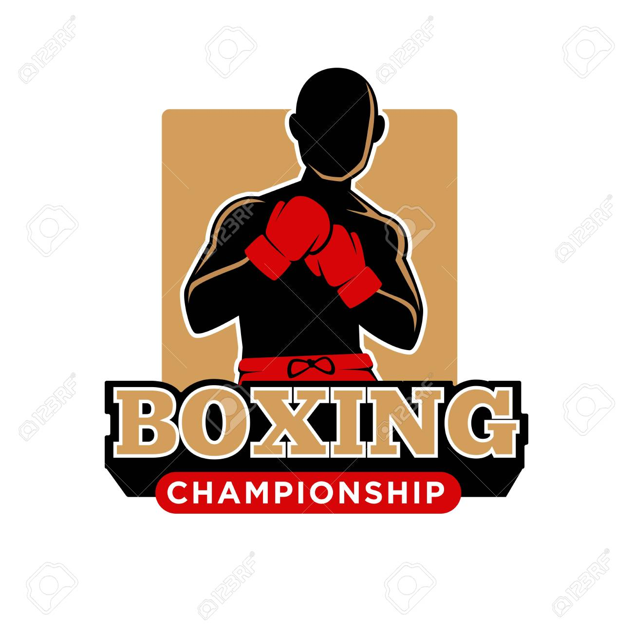 Boxing Gloves In The Old School Style Royalty Free Cliparts, Vectors, And  Stock Illustration. Image 92052973.