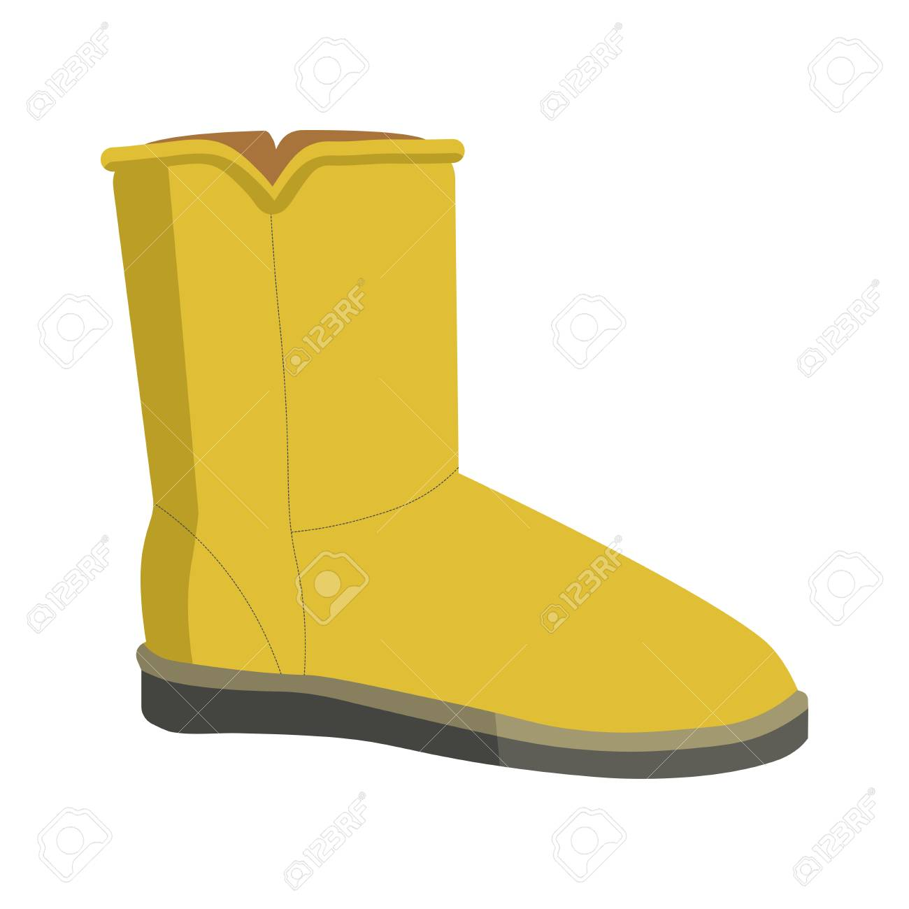 5bfe1dd87e6 Warm winter bright soft ugg boot isolated illustration