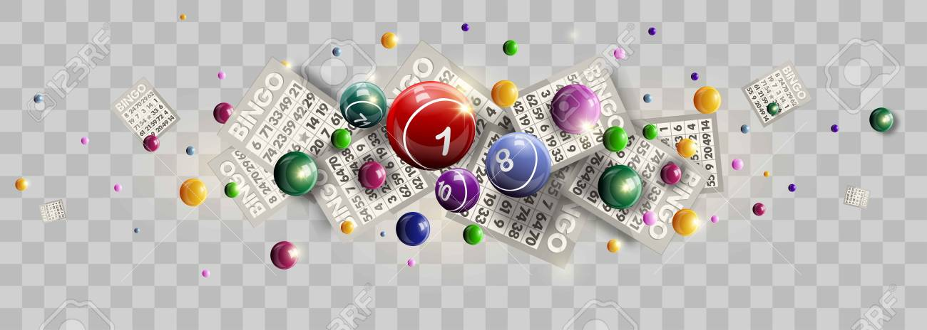 Lottery ticket lucky balls and numbers of lotto vector design - 85647712